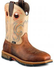 Red Wing Irish Setter Marshall Western Work Boots - Soft Square Toe