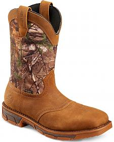 Red Wing Irish Setter Marshall Camo Waterproof Work Boots - Square Toe