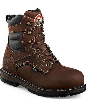Red Wing Irish Setter Ramsey Brown Waterproof Work Boots -  Soft Round Toe