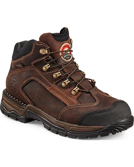 Red Wing Irish Setter Two Harbors brown Hiker Work Boots - Soft Toe