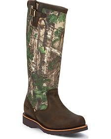 Chippewa Men's Tan Apache Snake Boots - Round Toe