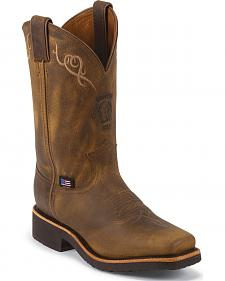 Chippewa Women's Golden Sand Western Work Boots - Square Toe