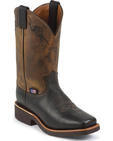 Chippewa Women's Black Odessa Western Work Boots - Square Toe