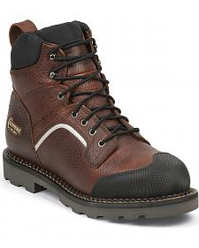 "Chippewa Men's 6"" Fall Flame Waterproof XOG Work Boots - Composite Toe"