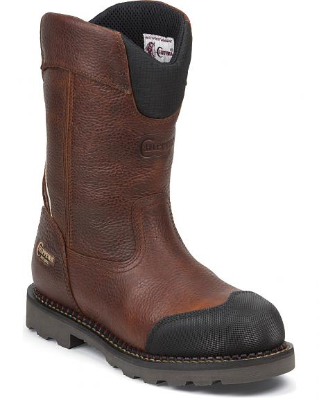 Chippewa Men's Fall Flame Waterproof XOG Pull-On Work Boots - Composite Toe