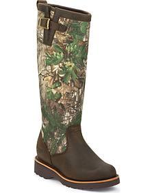 Chippewa Women's Tan Apache Snake Boots - Round Toe