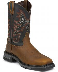 Tony Lama Walnut Tacoma TLX Western Work Boots - Comp Toe