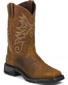 Tony Lama Sierra Badlands TLX Western Waterproof Work Boots - Square Toe