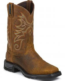Tony Lama Sierra Badlands TLX Western Waterproof Work Boots - Comp Toe