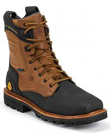 "Justin Original Workboots Tec Tuff Waterproof 8"" Lace-Up Boots - Comp Toe"