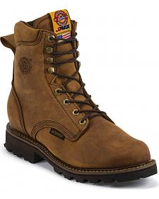 Justin Men's Stag Gaucho Waterproof Insulated Work Boots - Soft Round Toe