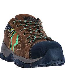 McRae Men's Suede Low Cut Lace Up Work Boots