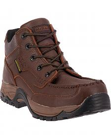 McRae Men's Waterproof Lace-Up Work Boots - Moc Toe