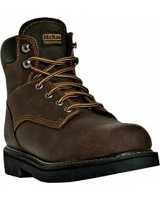"McRae Men's 6"" Lace-Up Work Boots - Round Toe"