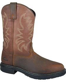 Smoky Mountain Men's Buffalo Wellington Work Boots - Steel Toe