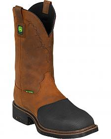 John Deere Men's Fire-Resistant Western Work Boots - Steel Toe
