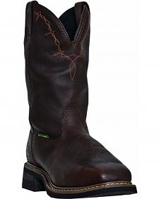 John Deere Men's Leather Western Work Boots - Steel Toe