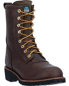 "McRae Men's 8"" Logger Boots - Round Toe"