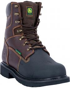 John Deere Men's Internal Met Guard Fire Retardant Work Boots - Steel Toe