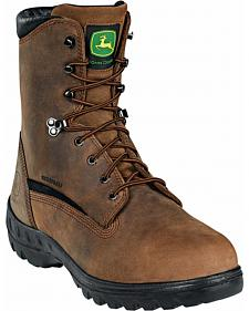 John Deere Men's Waterproof Met Guard Lace-Up Work Boots - Steel Toe