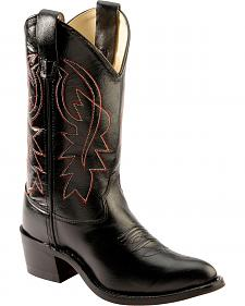 Old West Boys' Black Cowboy Boots