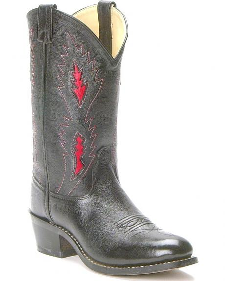 Old West Children's Underlay Cowboy Boots - Round Toe