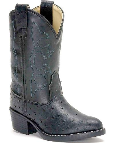 Old West Ostrich Print Cowboy Boots Western & Country OJ9117