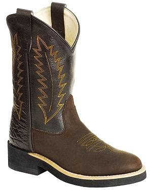 Old West Youth Cowboy Boots - Round Toe