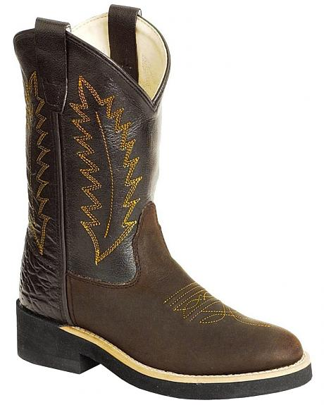 Old West Toddlers' Cowboy Boots - Round Toe