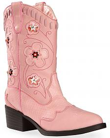 Roper Girls' Light Up Cowgirl Boots