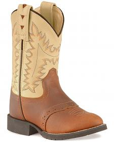 Old West Boys' Cowboy Boots - Round Toe