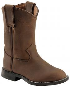 Justin Boys' Roper Cowboy Boots - Round Toe