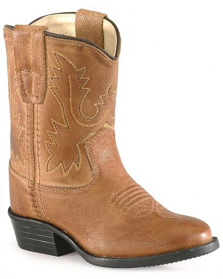 Old West Toddler Boys' Tan Cowboy Boots