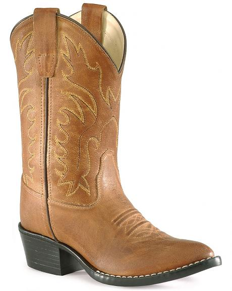 Old West Boys' Cowboy Boots - Pointed Toe