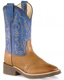 Childrens' crepe sole cowboy boots