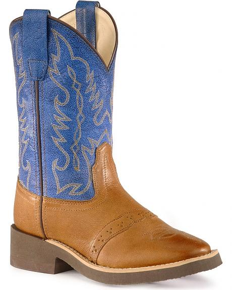 Old West Youth Crepe Sole Cowboy Boots