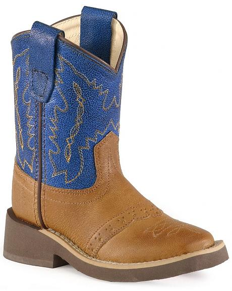Old West Toddlers' Crepe Sole Cowboy Boots - Square Toe