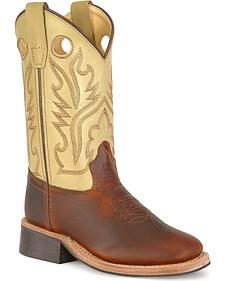 Youth corona calfskin cowboy boots