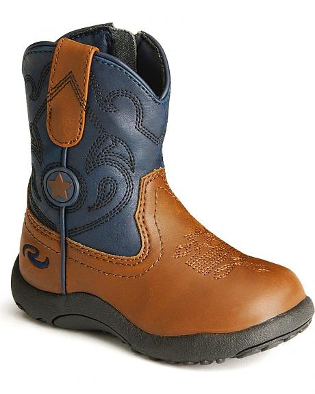 Roper Infant/Toddler Tan Chunk Cowboy Boots
