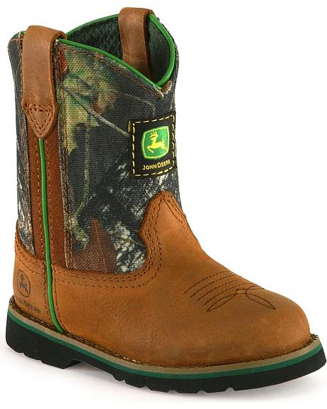 John Deere Toddler Boys' Camo Johnny Popper Boots - Roper