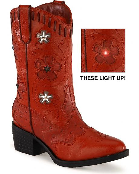 Roper Children's Light-Up Red Western Boots