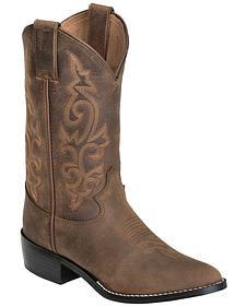 Justin Boys' Basic Western Boots - Round Toe