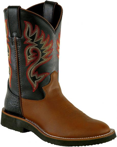 Justin Youth Crepe Sole Western Boots