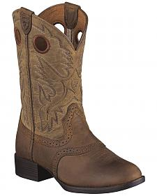 Ariat Boys' Heritage Stockman Boots - Round Toe