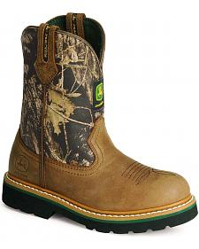 John Deere Boys' Camo Johnny Popper Boots