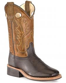 Old West Toddlers' Corona Cowboy Boots - Square Toe