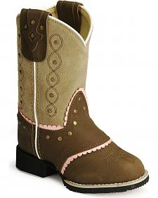 Smoky Mountain Children Girls' Cowgirl Boots - Round Toe