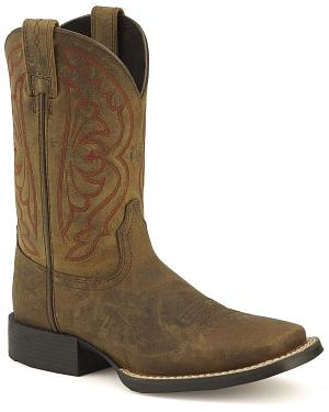 Ariat Youth Quickdraw Cowboy Boots - Square Toe