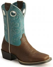 Ariat Boys' Crossfire Cowboy Boots - Square Toe
