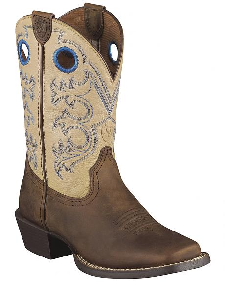 Ariat Children's Crossfire Cowboy Boots - Square Toe